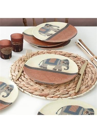 Keramika Ethna Pasta Tabağı 21 Cm 6 Adet - 17793 Renkli